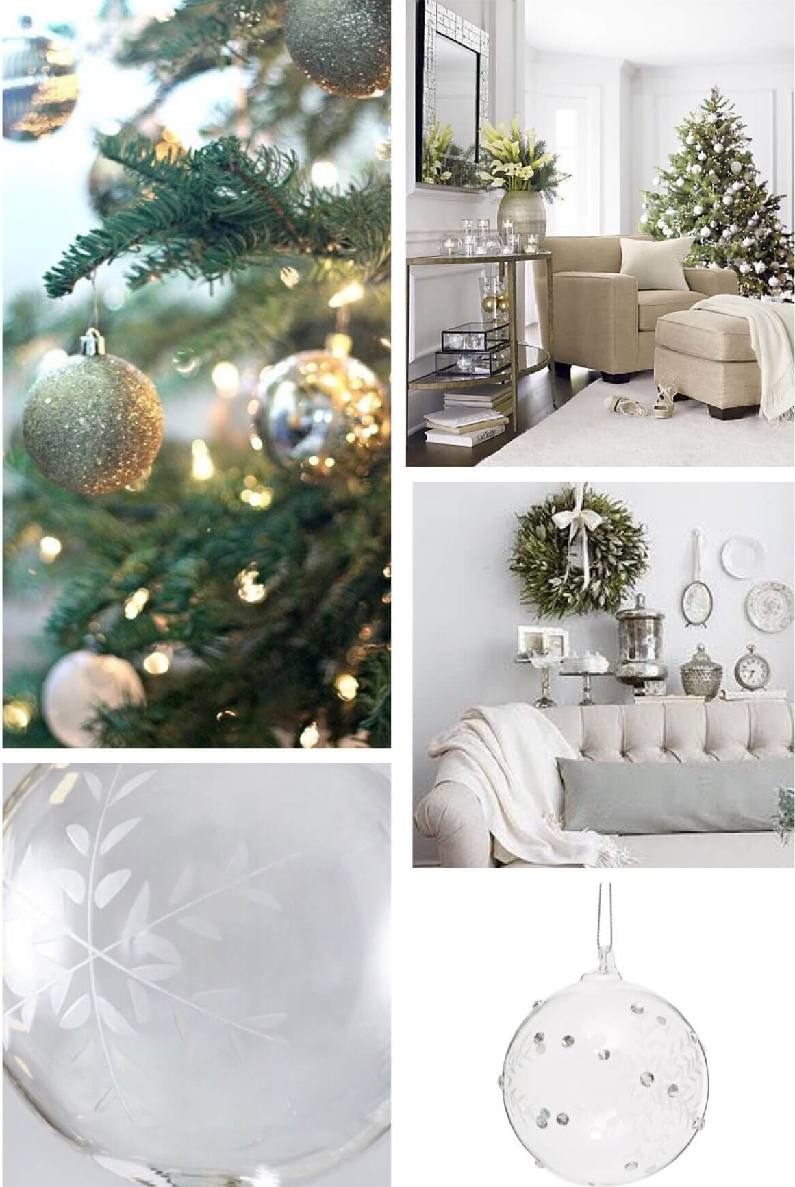 White And Green Christmas Decorations