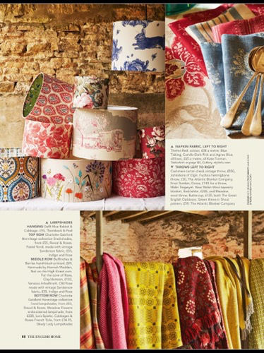 Rascal & Roses Lined Lampshades – as featured in The English Home magazine